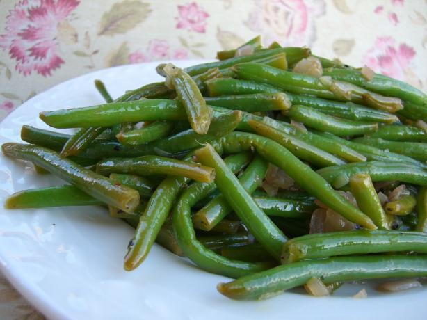 Haricots Verts With Shallots and Lemon
