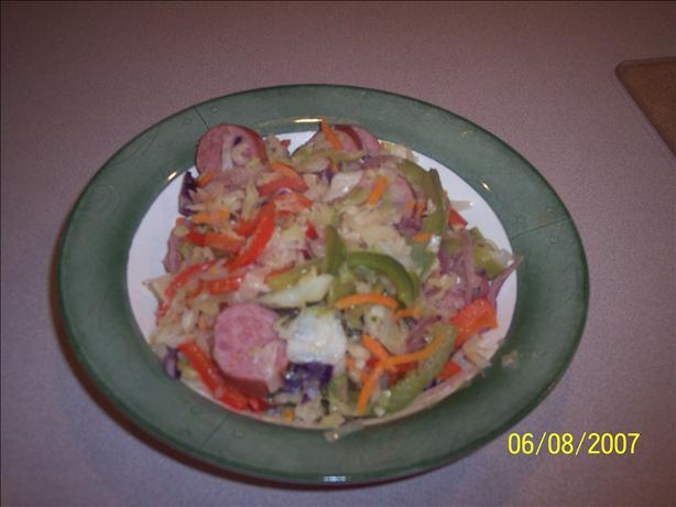 Cabbage Kielbasa Skillet