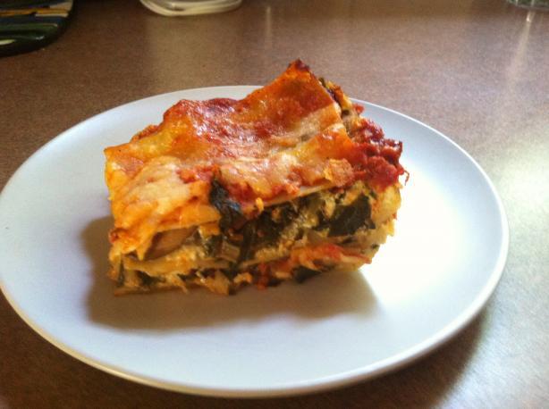 Mushroom and Swiss Chard Lasagna