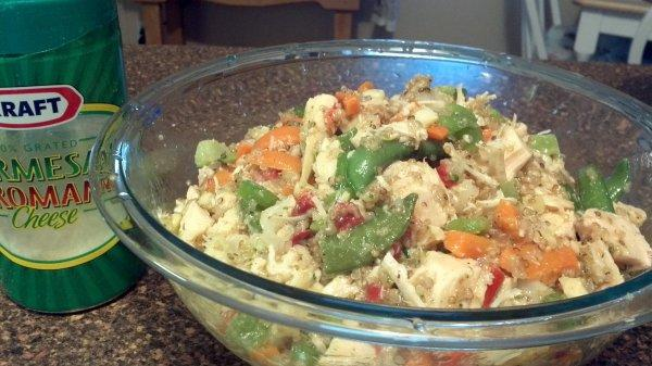 Italian Quinoa, Chicken and Roasted Veggie Salad