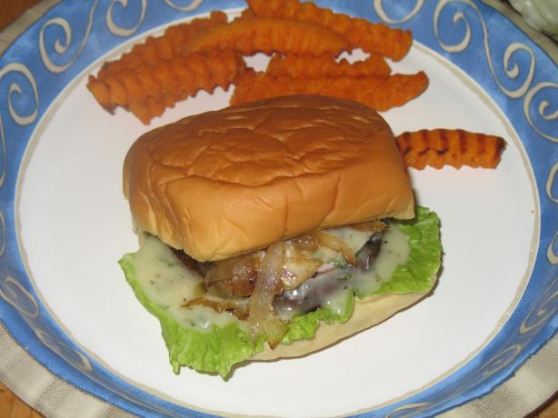 Grilled Portabella Burger With Basil Mayonnaise