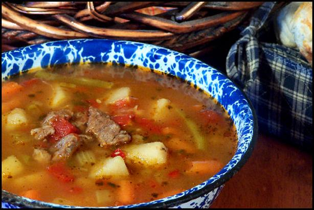 Beef Vegetable Garlic Soup