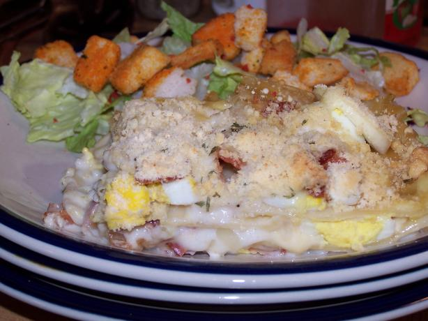 Bacon and Egg Lasagna