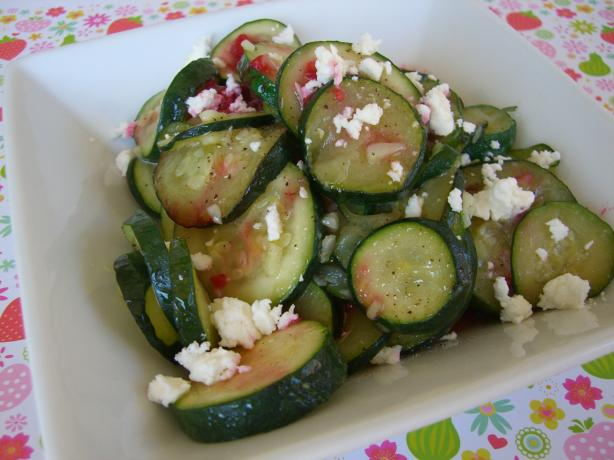 Sautéed Garlic Zucchini With Crumbled Feta