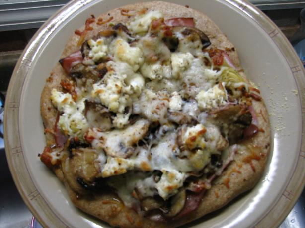 Prosciutto, Mushroom and Artichoke Pizza