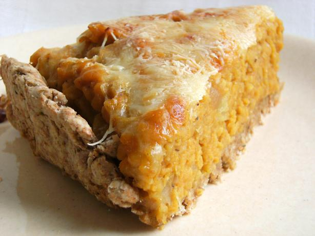 Sweet Potato (Kumara) and Lentil Pie