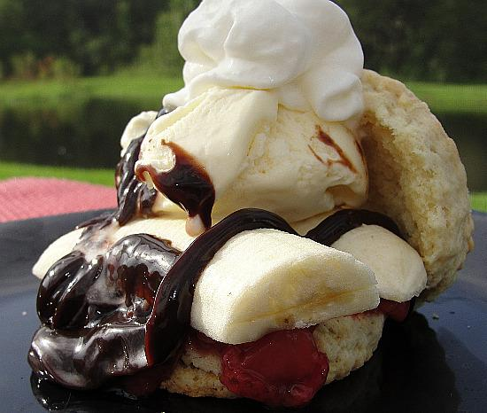 Banana Split Shortcakes