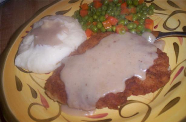 Old-Fashioned Chicken Fried Steak With Pan Gravy