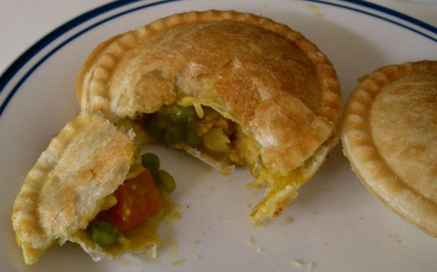 Chicken and Vegetable Curry Pie