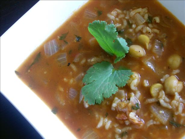 Tomato and Chickpea Soup (Hasa Tamata Ma' Hummus)