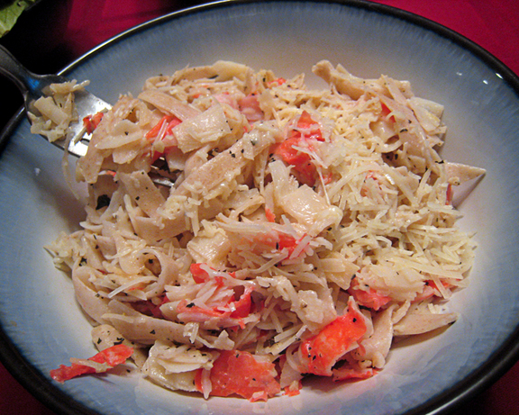 Garlicky Crab With Pasta
