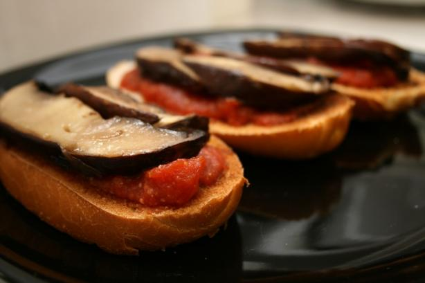 Portabella Mushroom and Dried Tomato Bruschetta