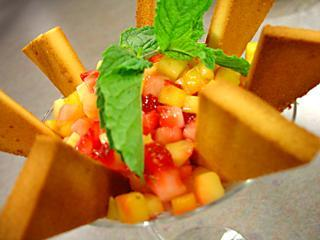 Strawberry and Mango Bruschetta Dessert