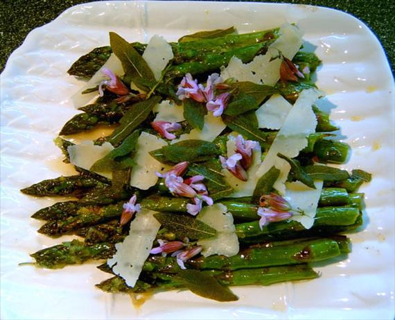 Roasted Asparagus Salad With Fried Sage