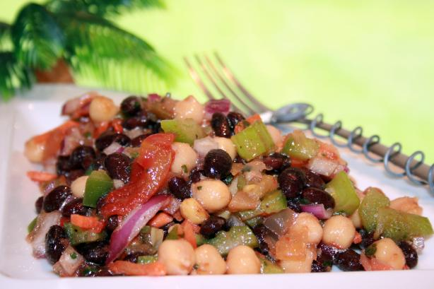 Black Bean and Garbanzo Salad