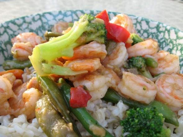 Simple Shrimp Stir Fry