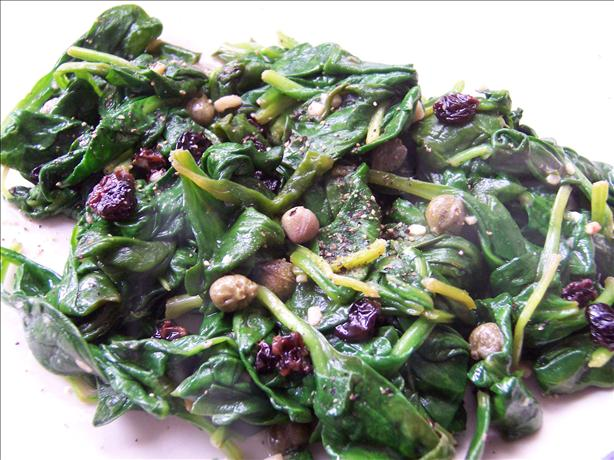 Sicilian Spinach Saute