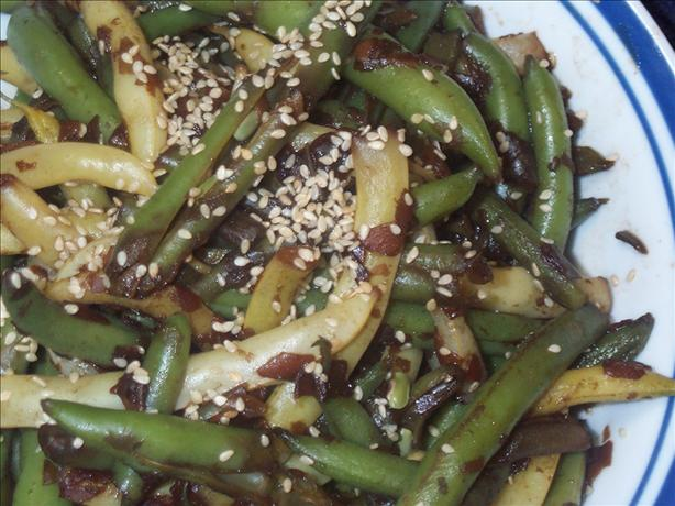 Asian Glazed Green & Wax Beans