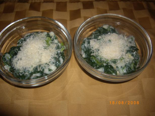 Light Creamed Lemon Spinach