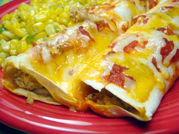 Cheesy Sausage and Egg Enchiladas