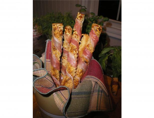 Prosciutto-Parmesan Grissini (Puff Pastry Breadsticks)