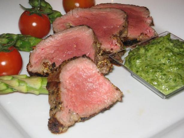 Fillet of Beef with Salsa Verde