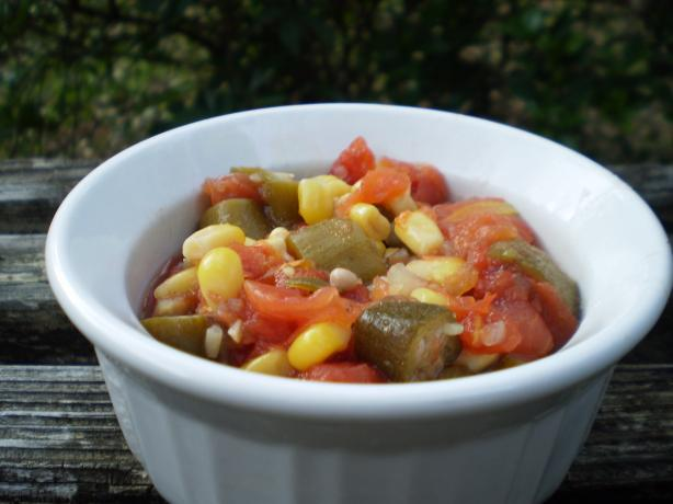 Okra, Corn, and Tomatoes