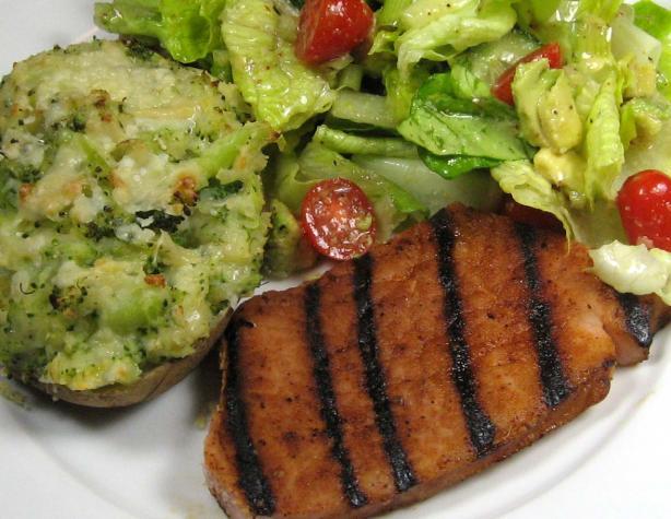 Grilled Ham Steak With Southwestern Rub