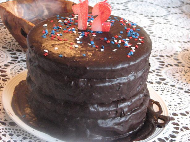 Favorite Fudge Birthday Cake