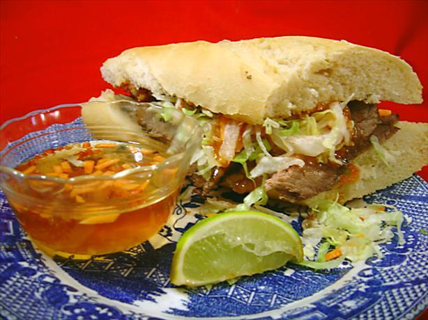 Vietnamese Beef Sandwich