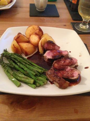 Grilled Duck Breasts With Red Wine and Orange Sauce