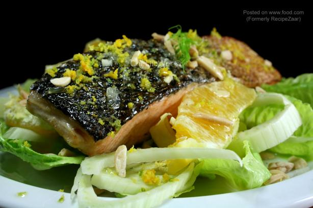 Salmon on Fennel Salad