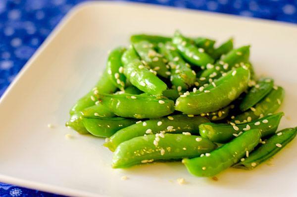 Sesame Sugar Snap Peas (Gluten-Free, Low-GI, Vegan)