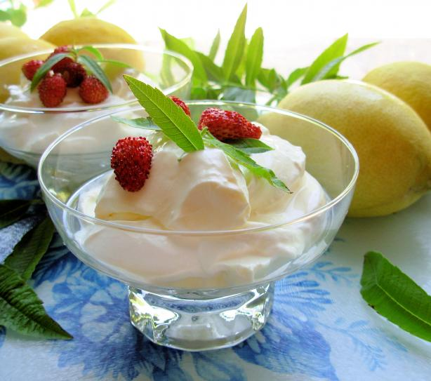 Lemon Verbena Syllabub for Lazy Summer Days or Dinner Parties!