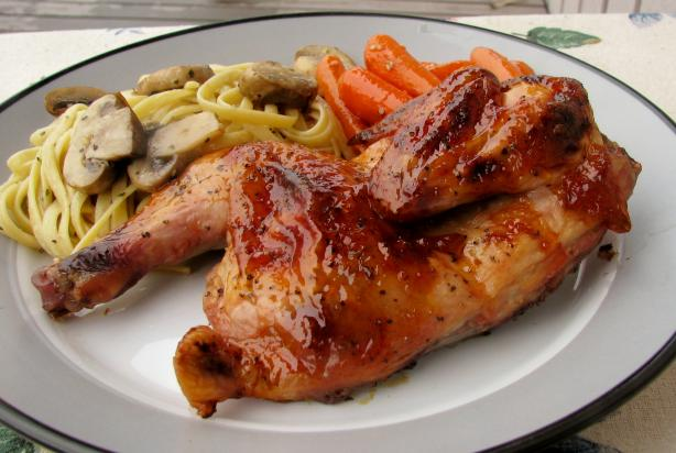 Glazed Cornish Game Hens
