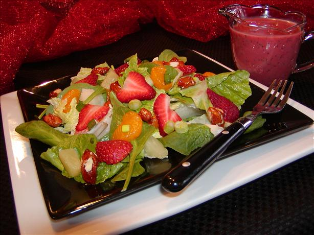 Best Spinach Fruit Salad (W/Glazed Almonds)