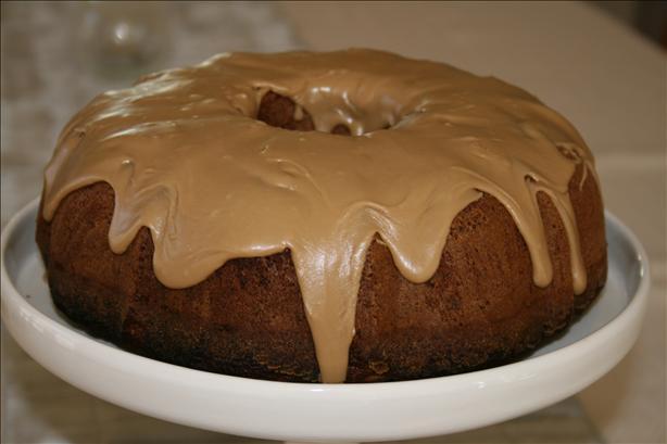 Pear Cake With Caramel Glaze