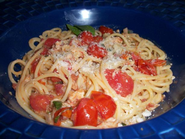 Cherry Tomato Spaghetti All'amatriciana - Rachael Ray