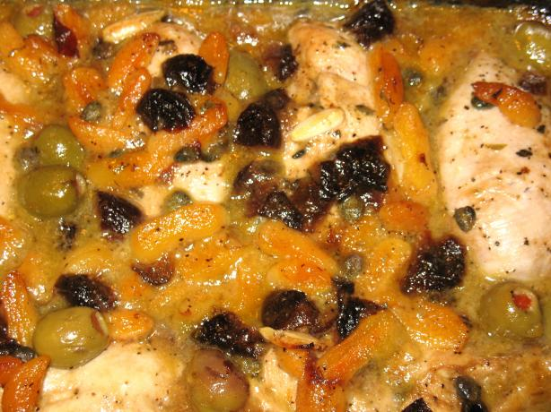 Mediterranean Chicken With Dried Apricots & Prunes