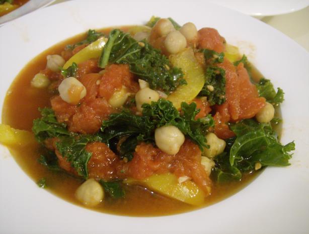 Chickpea Tomato Kale Jumble