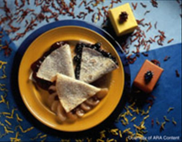 Fruit-Filled Dessert Quesadillas