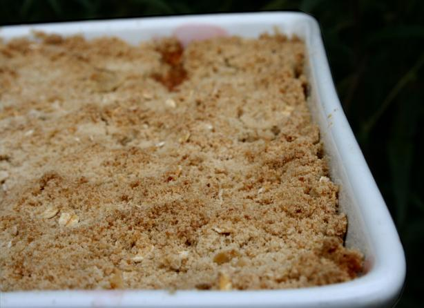 Apple and Rhubarb Crumble