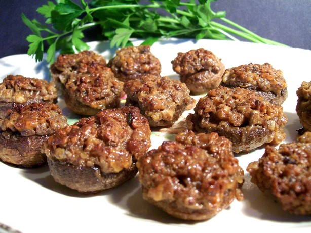 Pecan-Stuffed Mushrooms
