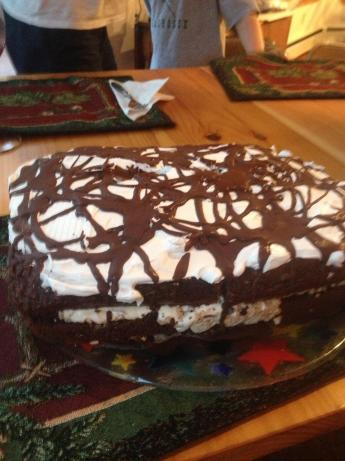 Chocolate Toffee Crunch Ice Cream Cake