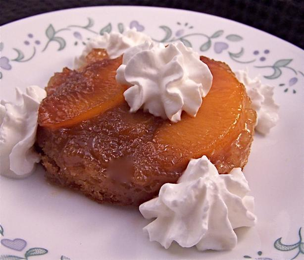 Individual Peach Upside-Down Cake