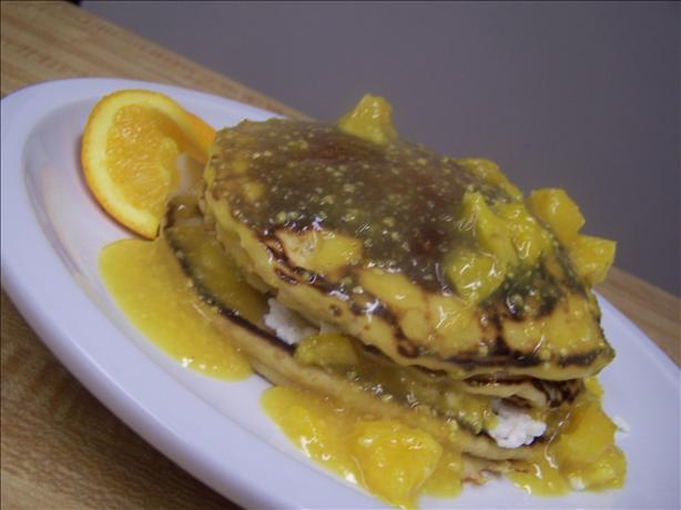 Orange Pancakes With Orange Sauce