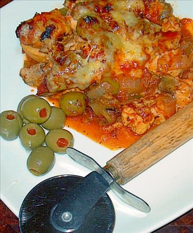 Easy Chicken Pizza Casserole