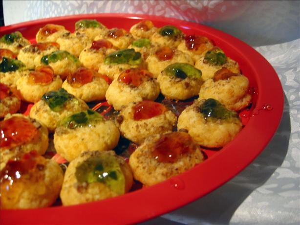 Thumbprint Cookies (savory Cheddar)