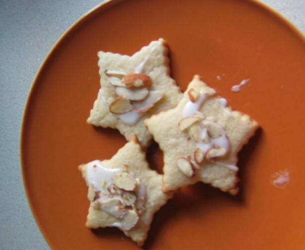 Lemon Cream Cheese Star Cookies