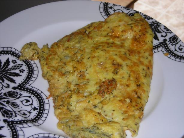 Classic Omelet With Fresh Thyme and Cheddar